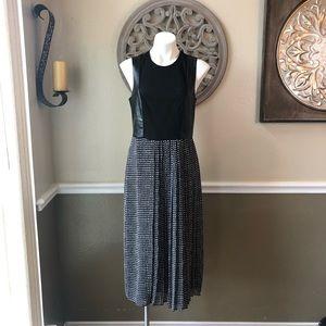 RACHEL Rachel Roy black dress with faux leather